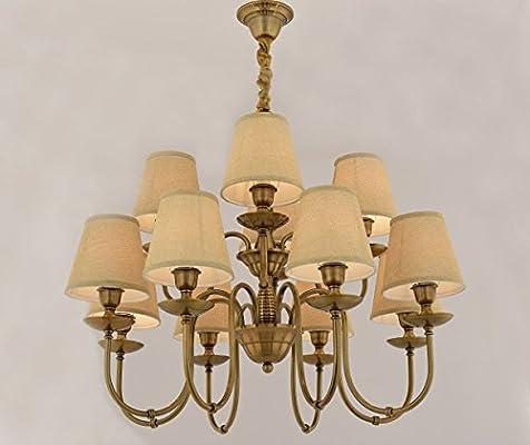 WENSENY lámparas de araña Hierro forjado Candelabro 12 luces ...