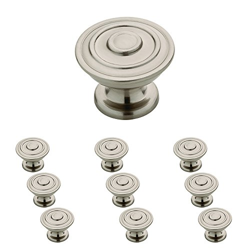 Knob Bee (Franklin Brass P29525K-SN-B 1-1/4-Inch Hayes Kitchen Cabinet Hardware Knob, Satin Nickel, 10 pack)