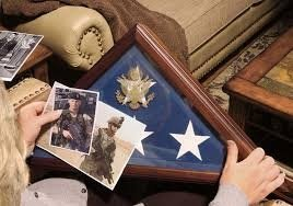 U.S. Military Burial Flag Box Handmade by Veterans Walnut Hardwood Casket Flag Display Case by Flag Connection