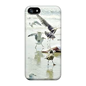 Top Quality Rugged Girl The Birds Case Cover For Iphone 5/5s