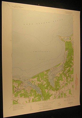 St James NY Sunken Meadow State Park 1957 vintage USGS original Topo chart - Park Map Meadows