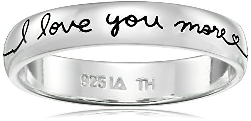 Sterling Silver Band Love More