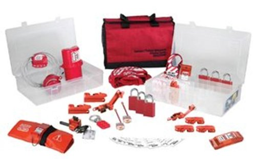 Master Lock Portable Valve and Electrical Lockout Kit and Organizer, Includes 6 Aluminum Padlocks