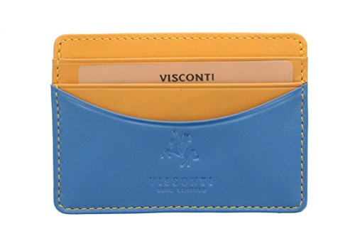 Two Leather Mustard Visconti Holder RAMON Lucca Grey Blue Credit LC35 Card Collection Multi Slim Tone qBBtYw