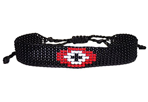 Ayounik Adjustable Evil Eye Handmade Beaded Bracelet (Red)