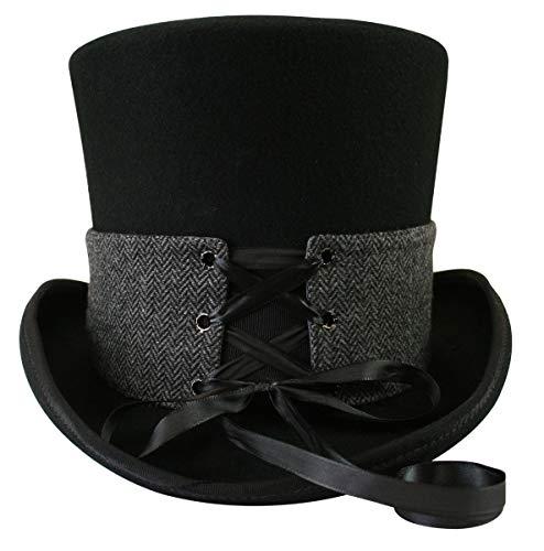 Historical Emporium Steampunk Corset Laced Reversible Hat Wrap - Short -