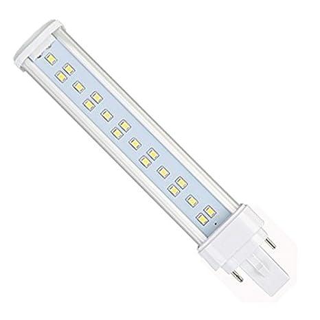 YC G24 LED giratoria Luz Bombilla 11 W blanco frío 6000 K 180 grados 26 W ...