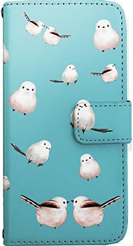 iPhone8 ケース 手帳型 スマホケース nban010b シマエナガ 鳥 ブルー カードタイプ スマホカバー 携帯カバー [ZI:L](ジール) [i6]