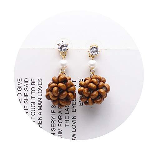 (New Grape Desig Fashion Brand Jewelry Flowers Dangle Earrings Water Droplets Bead Summer Style Long Earring For Women Gift,Kaifei)