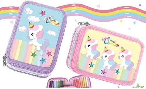 Magic Dream - Estuche de unicornio con 3 cremalleras: Amazon.es: Oficina y papelería