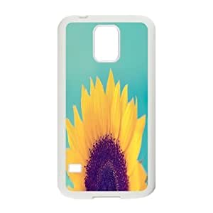 sunflower Design Top Quality DIY Hard Case Cover for SamSung Galaxy S5 I9600, sunflower Galaxy S5 I9600 Phone Case