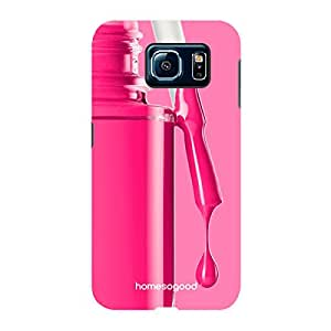 HomeSoGood Girly Nail Color Pink 3D Mobile Case For Samsung S6 ( Back Cover)