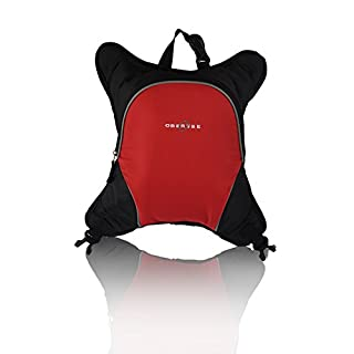 Baby Bottle Cooler Attachment for Obersee Backpack or Bag, Insulated Baby/Tot Bottle Carrier Red