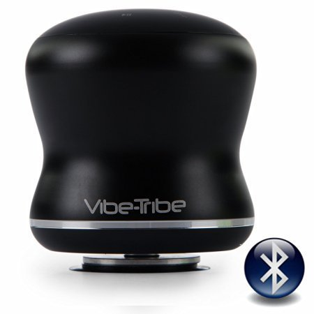 3 Watt Vibe-Tribe Troll Mini Black: The Ultracompact Vibration Speaker with Bluetooth and Hands Free.