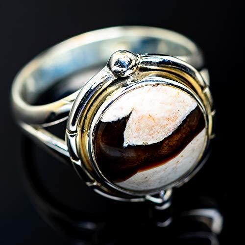 Ana Silver Co Peanut Wood Jasper Ring Size 8.75 (925 Sterling Silver) - Handmade Jewelry, Bohemian, Vintage RING958204 (Ana Silver Co Jasper Ring)