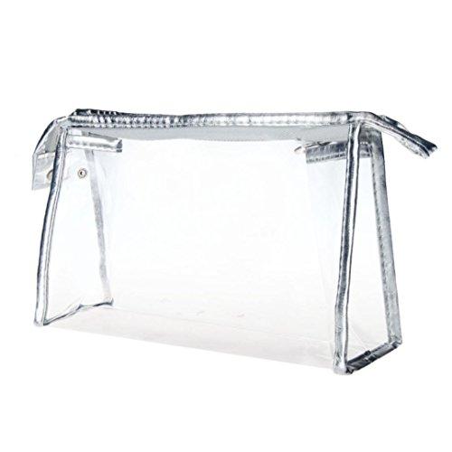 Waterproof Lines Nylon Cosmetic Bag Travel Wash Pocket - 1