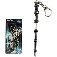 Metal Harry Potter Dumbledore Magical Wand Key Ring Chain (Grey)