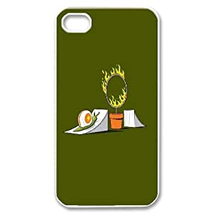 IPhone 4/4s Case Funny Snail Stunt, Snail Phone Case for Iphone 4s [White]