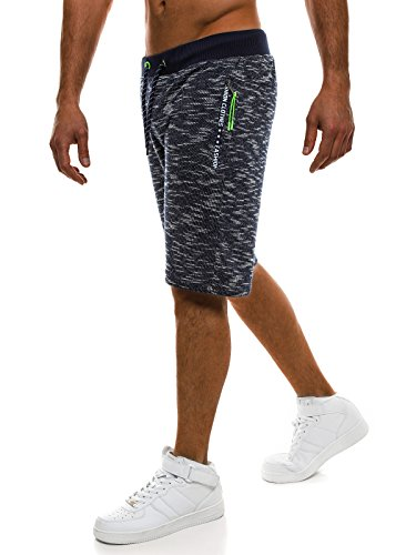 nat de Hommes 1157s Bermudes sport de Ozonee Fireball Shorts Dunkelblau Shorts Shorts Shorts loisir genou Red longueur 4442 awnX4