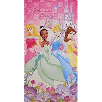 Disney Beach Towel Princess Purple Bath Towel 100% Cotton well-wreapped