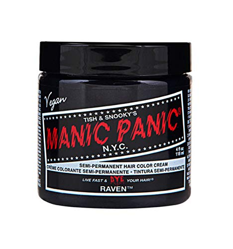 Manic Panic - Raven Cream Hair Color 4 fl. (Temporary Black Hair Dye)