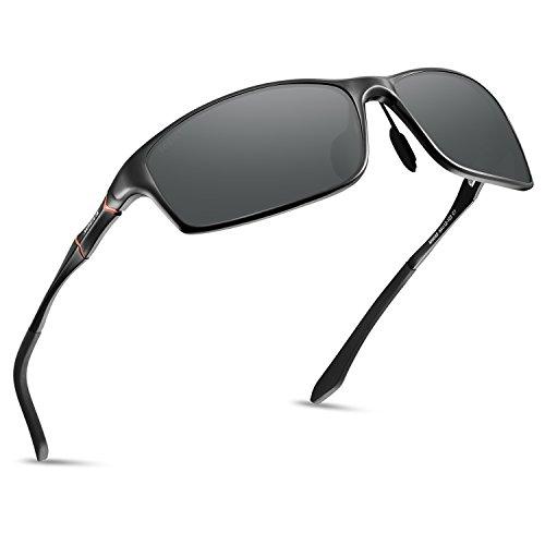 Soxick Polarized Sports Sunglasses For Men UV400 Metal Men's Fashion Retro Wayfarer...