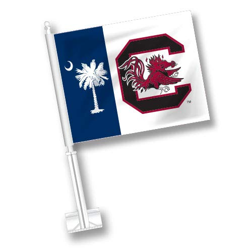 NCAA South Carolina Gamecocks Car Flag Set of 2