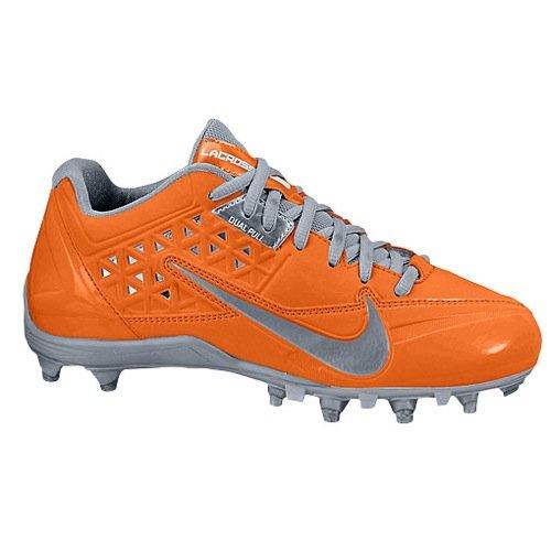Nike Women's Speedlax 4 LE Lacrosse Cleats (6 M US, Grey/Orange) by Nike