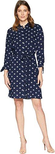 Sleeve Belted Shirt Dress - 5