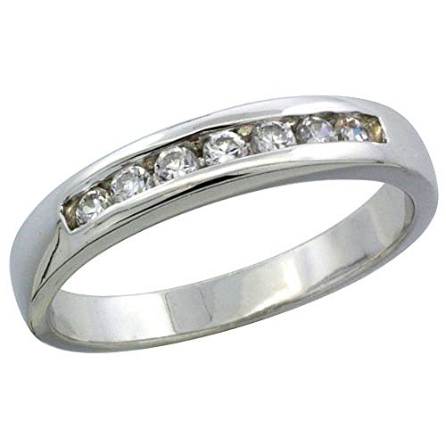 Classic Channel Set Wedding Ring - 9
