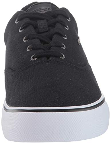 Lugz Men's Flip Sneaker, Black/White, 7 D US