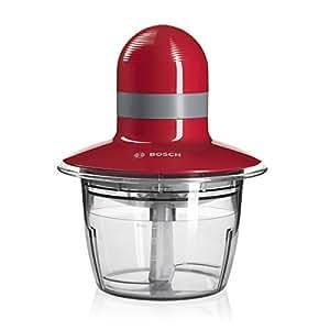 Bosch MMR08R2 - Picadora universal, 400 W, capacidad de 0,8 l, color rojo