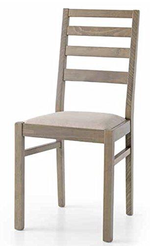 Sedie In Rovere Per Cucina.Set 2 Sedie In Legno Rovere Grigio Adele