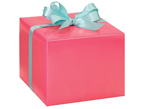 Coral Pink Gloss Gift Wrap Roll
