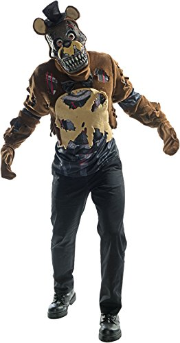 Rubie's Men's Five Nights Deluxe Nightmare Freddy Costume, As Shown, Small for $<!--$28.96-->