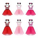 FYMNSI Girls Polka Dots Minnie Birthday Princess Tulle Tutu Dress Christmas Carnival Costume with Headband 1-7T