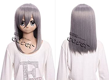 Kawaii-Story W DE 02 DE BC07 Gris Grey 40 cm Cosplay Peluca Wig Perruque