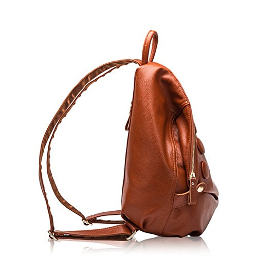 Eysee - Bolso mochila  de Piel para mujer marrón