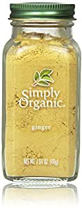 Simply Organic Ground Ginger Root, Zingiber officinale Roscoe, Spicy Sweet, 1.64 Oz