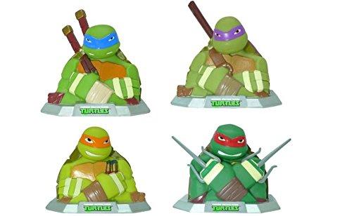 Teenage Mutant Ninja Turtles TMNT Ninja Figure Coin Bank Set of 4 (1 Each)