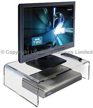 Soporte de acrílico Transparente para televisor, Monitor ...