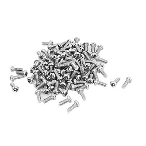 Uxcell a15121600ux0534 M3x8mm Stainless Steel Phillips Round Pan Head Machine Screws (Pack of 100)