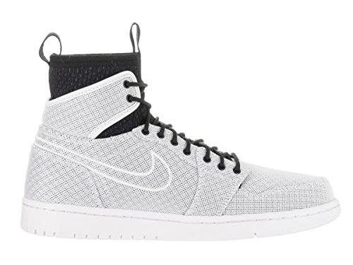 Jordan Nike Herren Air 1 Retro Ultra High Basketball Schuh Weiß / Mtcl Gld Cn-Pr Pltnm