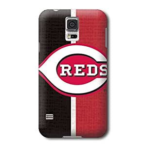 S5 Case, MLB - Cincinnati Reds Split - Samsung Galaxy S5 Case - High Quality PC Case