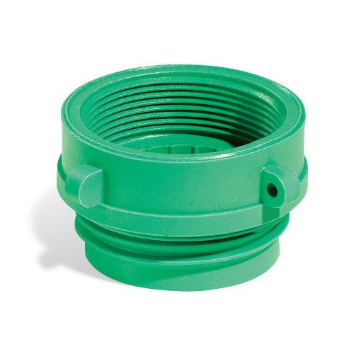 New Pig Buttress Drum Bung NPT Converter, For Poly Drums w/ 2'' Buttress Bung, Green, 1 Each, DRM545