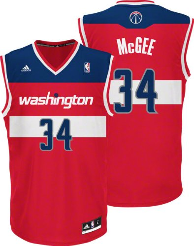 a7c9bcf4811 Amazon.com   JaVale McGee Jersey  adidas Red Replica  34 Washington Wizards  Jersey   Sports Fan Jerseys   Sports   Outdoors