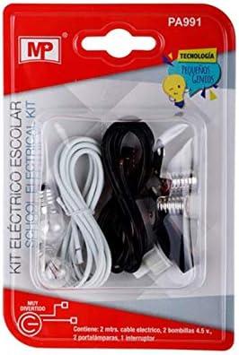 MP Kit de Experimentación Eléctrica Básica para Trabajos Escolares Sin Motor