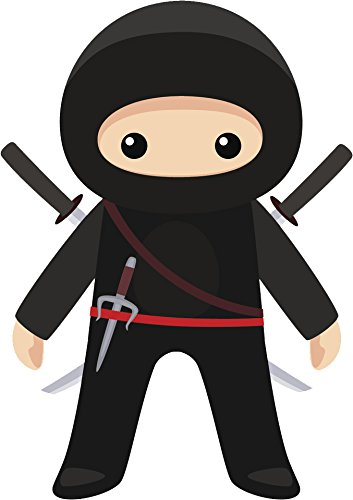 Amazon.com: Cool Kid Ninja Cartoon Icon Vinyl Decal Sticker ...