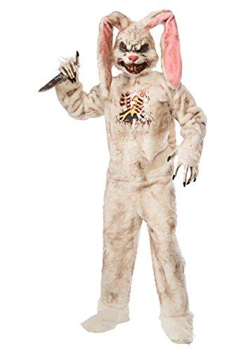 Forum Novelties Men's Rotten Rabbit Costume, White, Standard (Rabbit Teeth Costume)
