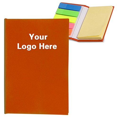 Micro Sticky Notes/Books/Bookmark Stickers/Memo Flags/Self Sticky Pads with PVC Page Markers - Pack of 150-$1.76 Each -Promotional Product Bulk Custom Branded with YOUR LOGO Free/C2BPromo #C2BONB074